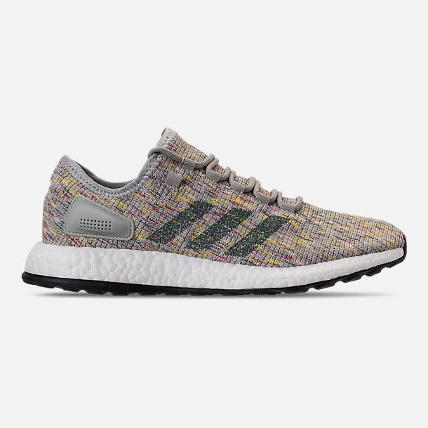ebed32140 ... amazon right view of mens adidas pureboost running shoes in ash silver  raw green shock 2953f