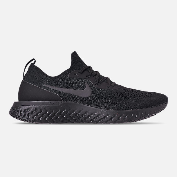 Right view of Men's Nike Epic React Flyknit Running Shoes in Triple Black