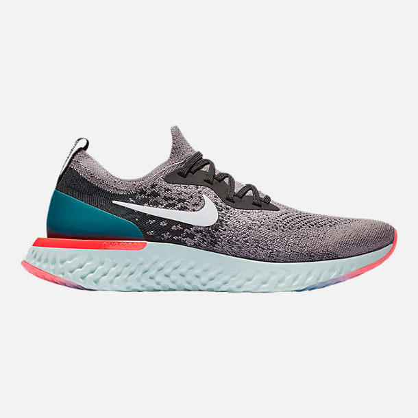pretty nice 36dec 9b590 Right view of Men s Nike Epic React Flyknit Running Shoes in Gunsmoke White  Black