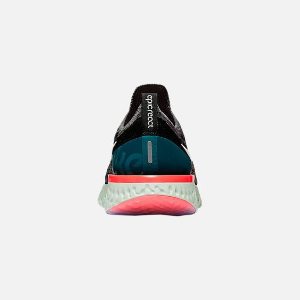 632910d8e4b Back view of Men s Nike Epic React Flyknit Running Shoes in Gunsmoke  White Black