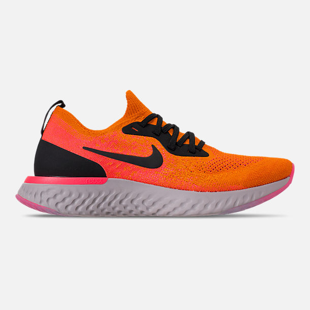 Right view of Mens Nike Epic React Flyknit Running Shoes in Copper  FlashBlack