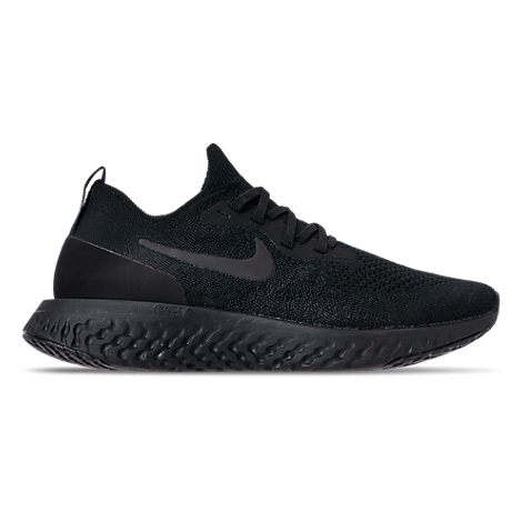 Women'S Epic React Flyknit Running Shoes, Black, Black/ Black-Black