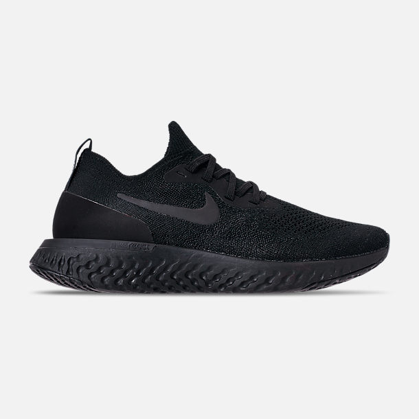 Right view of Women's Nike Epic React Flyknit Running Shoes in Black/Black/Black
