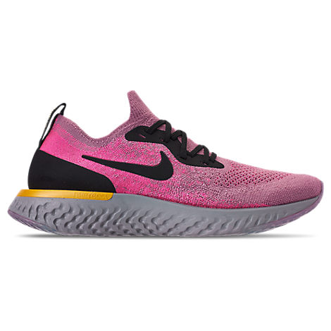 Women'S Epic React Flyknit Running Shoes, Pink, Plum Dust/ Black/ Pink Blast