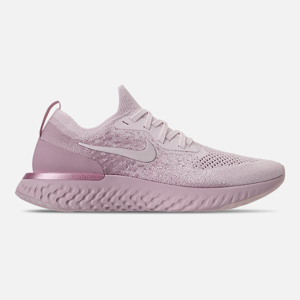 Right view of Womens Nike Epic React Flyknit Running Shoes in Pearl  PinkPearl Pink