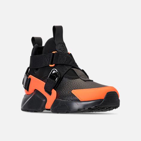 best cheap c10fa dacea Three Quarter view of Women s Nike Air Huarache City Utility Casual Shoes  in Black Black