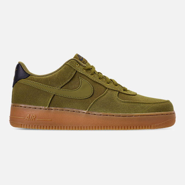 Right view of Men's Nike Air Force 1 '07 LV8 Style Casual Shoes in Camper Green/Camper Green/Gum Medium Brown