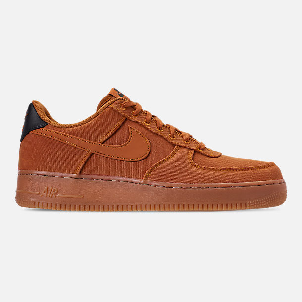 Right view of Men's Nike Air Force 1 '07 LV8 Style Casual Shoes in Monarch/Monarch/Gum Medium Brown/Black