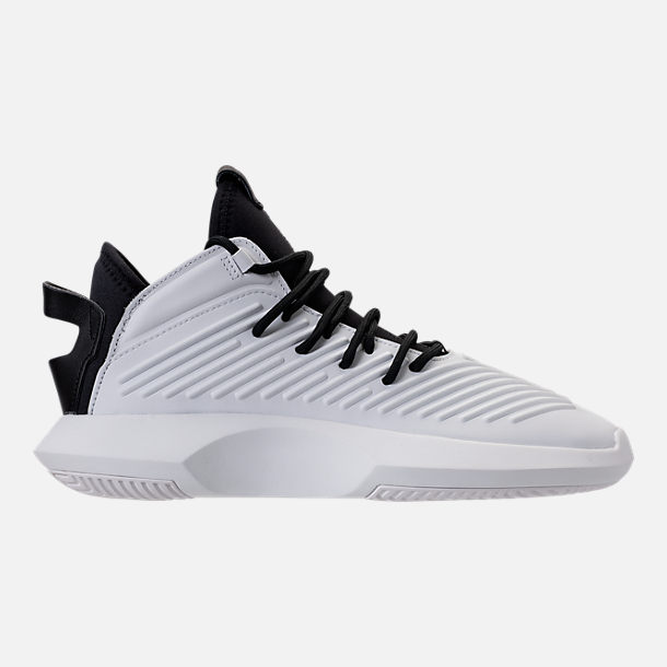 Right view of Men's adidas Crazy 1 ADV Basketball Shoes in Black/White/Hi Res Green