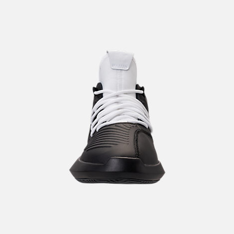 on sale a0777 f4769 Front view of Mens adidas Crazy 1 ADV Basketball Shoes in WhiteBlackHi