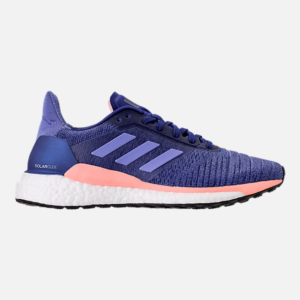 Right view of Women's adidas Solar Glide Running Shoes in Raw Grey/Real Lilac/Core Black