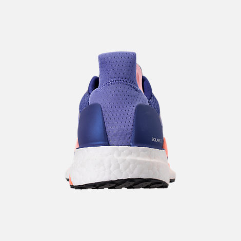 Back view of Women's adidas Solar Glide Running Shoes in Raw Grey/Real Lilac/Core Black