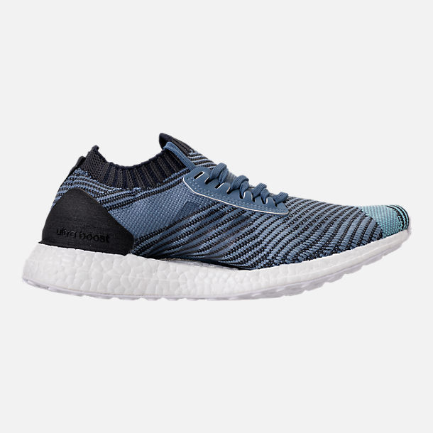 Right view of Women s adidas UltraBOOST X Parley Running Shoes in Raw  Grey Carbon  2b886bb0f