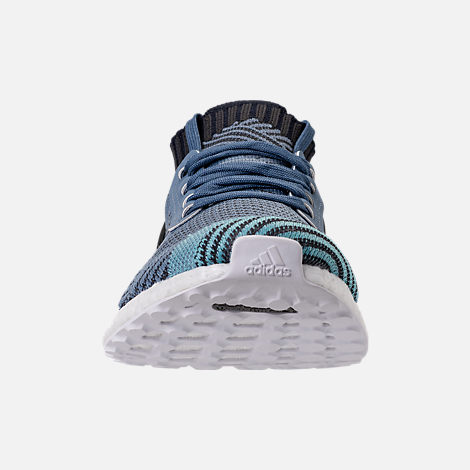 Front view of Women's adidas UltraBOOST X Parley Running Shoes in Raw Grey/Carbon/Legend Ink