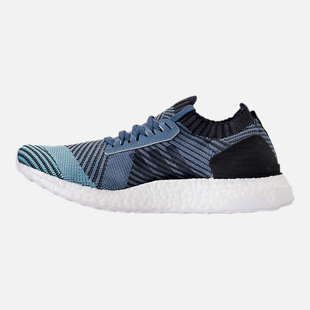 Left view of Women's adidas UltraBOOST X Parley Running Shoes in Raw Grey/Carbon/Legend Ink