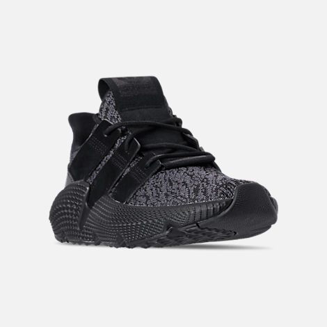 Three Quarter view of Boys' Grade School adidas Prophere Casual Shoes in Core Black