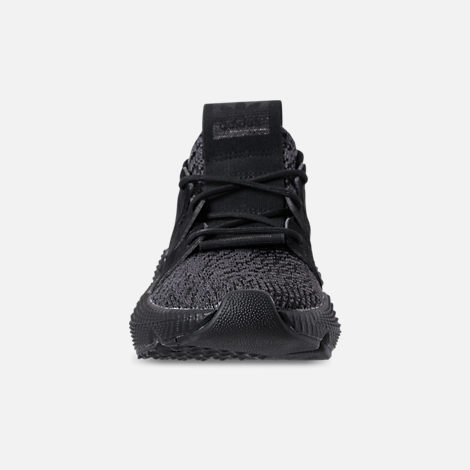Front view of Boys' Grade School adidas Prophere Casual Shoes in Core Black