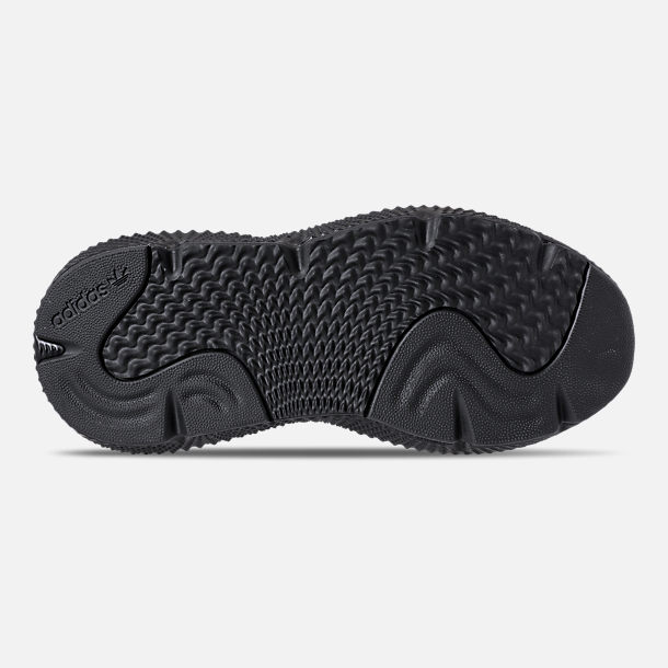 Bottom view of Boys' Grade School adidas Prophere Casual Shoes in Core Black