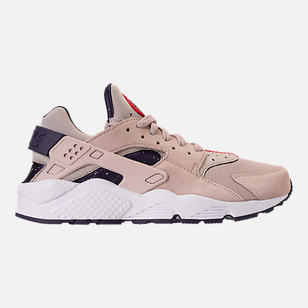 Right view of Men's Nike Air Huarache Run Casual Shoes in Moon Particle/Neutral Indigo/White
