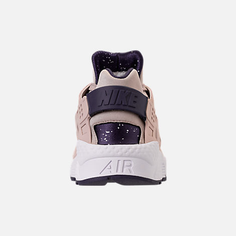 Back view of Men's Nike Air Huarache Run Casual Shoes in Moon Particle/Neutral Indigo/White