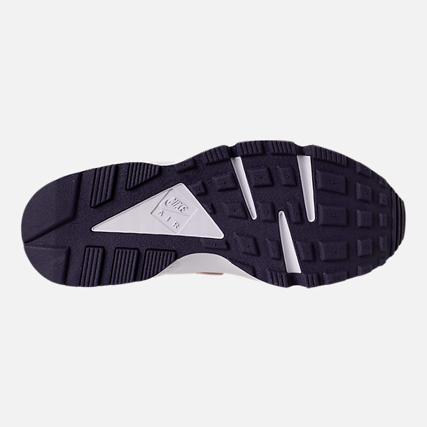 Bottom view of Men's Nike Air Huarache Run Casual Shoes in Moon Particle/Neutral Indigo/White