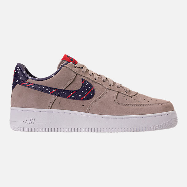 Right view of Men's Nike Air Force 1 Low Casual Shoes in Moon Particle/Neutral Indigo/White