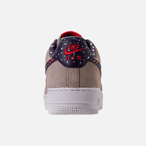Back view of Men's Nike Air Force 1 Low Casual Shoes in Moon Particle/Neutral Indigo/White