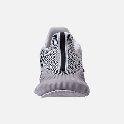 Back view of Men's adidas AlphaBounce Instinct Running Shoes in Footwear White/Grey/Core Black