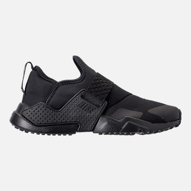 Right view of Boys' Big Kids' Nike Huarache Extreme Casual Shoes in Black/Black/Black
