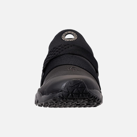 Front view of Boys' Big Kids' Nike Huarache Extreme Casual Shoes in Black/Black/Black