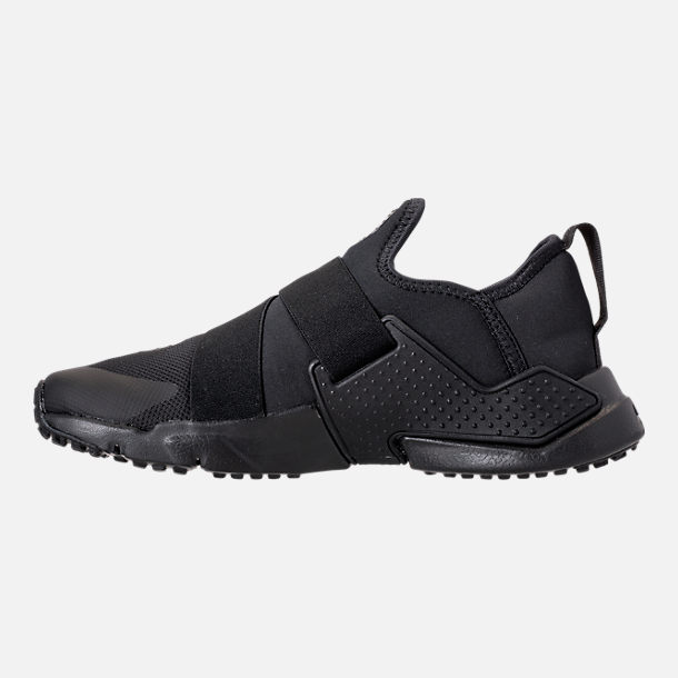 Left view of Boys' Big Kids' Nike Huarache Extreme Casual Shoes in Black/Black/Black