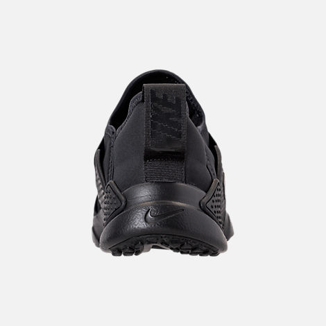 Back view of Boys' Big Kids' Nike Huarache Extreme Casual Shoes in Black/Black/Black