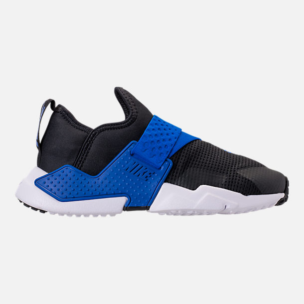 Right view of Boys' Big Kids' Nike Huarache Extreme Casual Shoes in Black/Lyon Blue/Volt