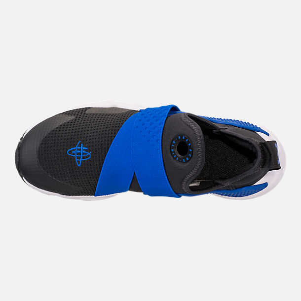 Top view of Boys' Big Kids' Nike Huarache Extreme Casual Shoes in Black/Lyon Blue/Volt