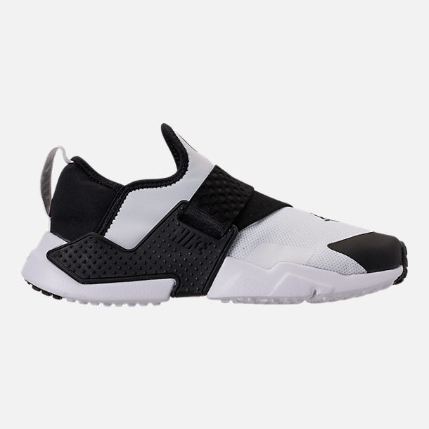 Right view of Boys' Big Kids' Nike Huarache Extreme Casual Shoes in White/Black