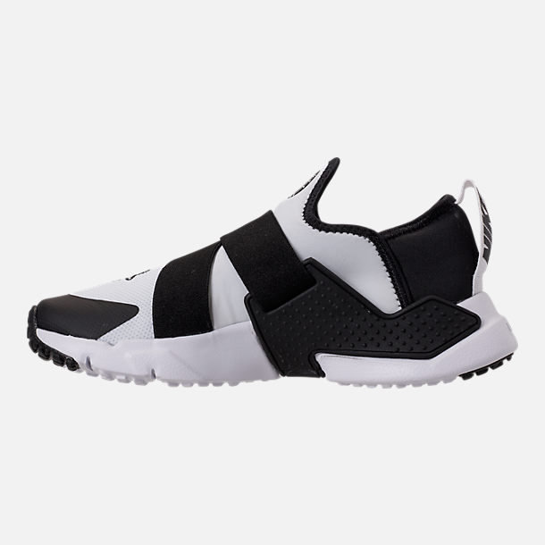 Left view of Boys' Big Kids' Nike Huarache Extreme Casual Shoes in White/Black