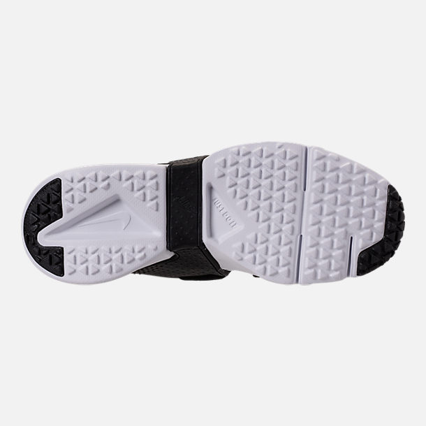 Bottom view of Boys' Big Kids' Nike Huarache Extreme Casual Shoes in White/Black