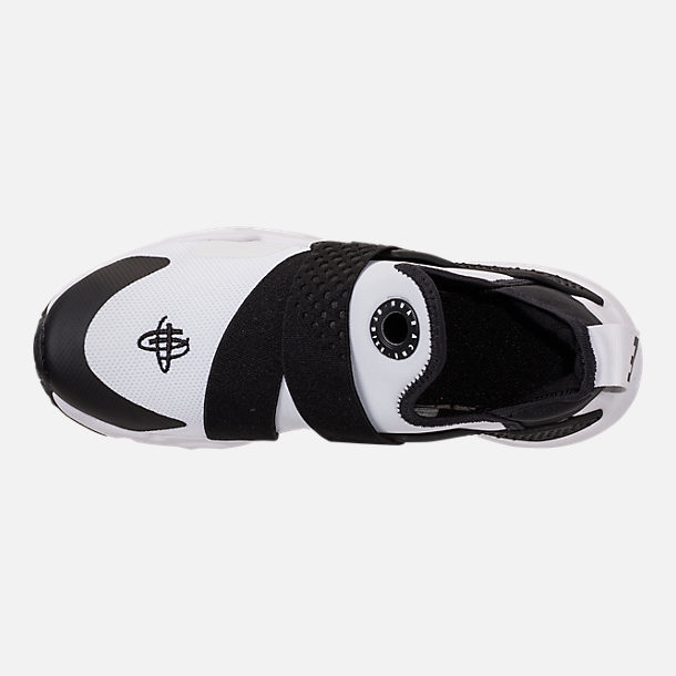 Top view of Boys' Big Kids' Nike Huarache Extreme Casual Shoes in White/Black