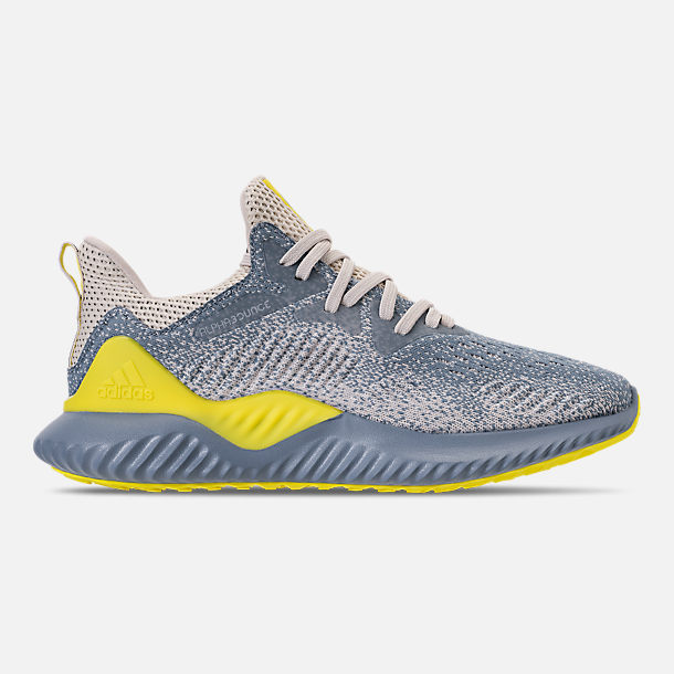 Right view of Men's adidas AlphaBounce Beyond Running Shoes in Grey/Tan/Yellow