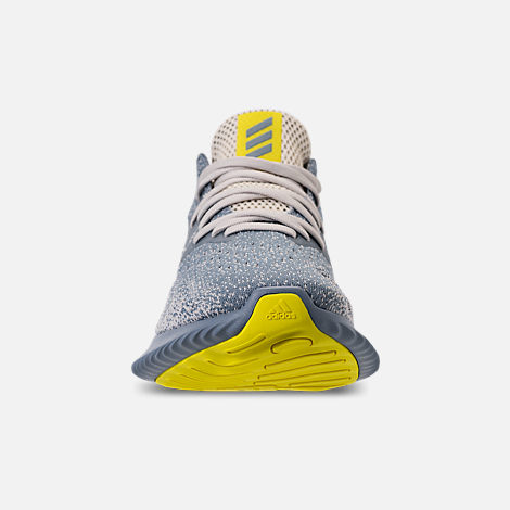 Front view of Men's adidas AlphaBounce Beyond Running Shoes in Grey/Tan/Yellow