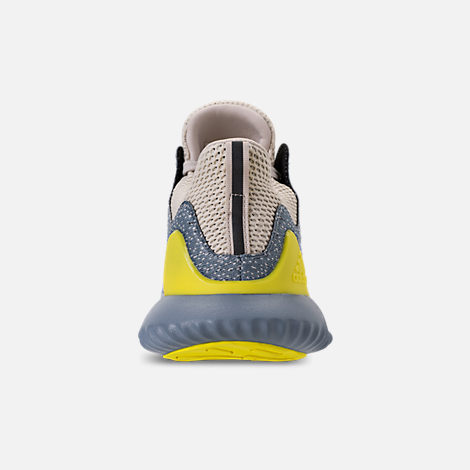Back view of Men's adidas AlphaBounce Beyond Running Shoes in Grey/Tan/Yellow