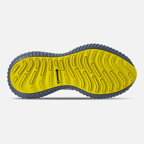 Bottom view of Men's adidas AlphaBounce Beyond Running Shoes in Grey/Tan/Yellow