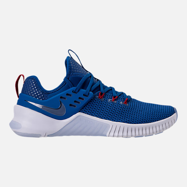 Right view of Men's Nike Free Metcon Training Shoes in Gym Blue/White/Team Red