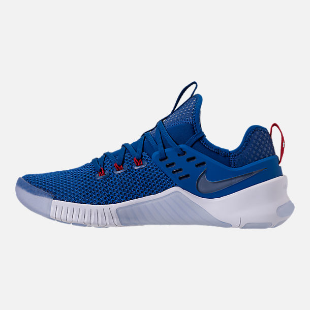 Left view of Men's Nike Free Metcon Training Shoes in Gym Blue/White/Team Red