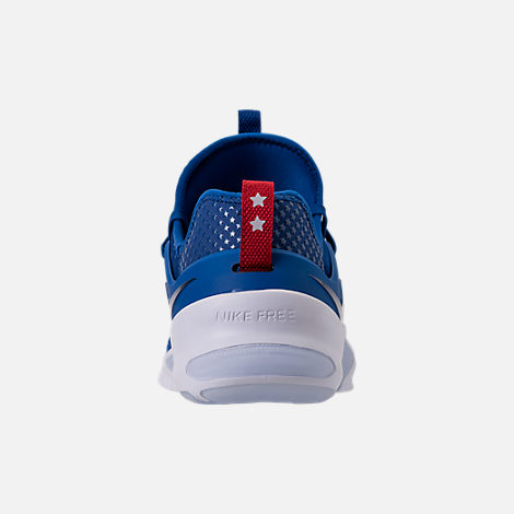 Back view of Men's Nike Free Metcon Training Shoes in Gym Blue/White/Team Red