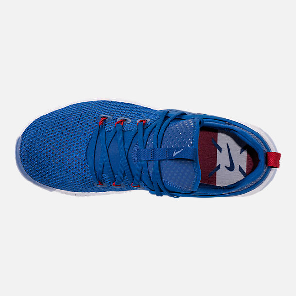 Top view of Men's Nike Free Metcon Training Shoes in Gym Blue/White/Team Red