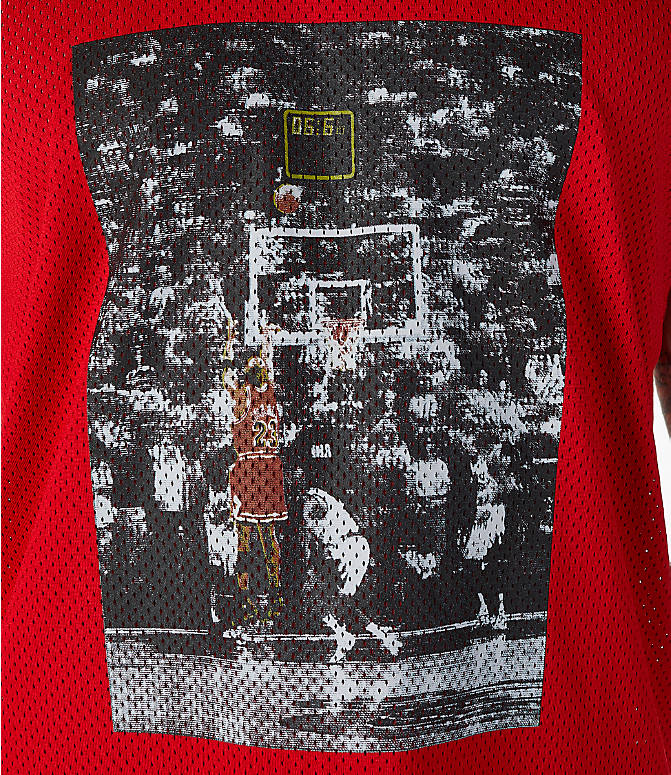 Detail 1 view of Men's Jordan Sportswear AJ14 Retro Tank in Red