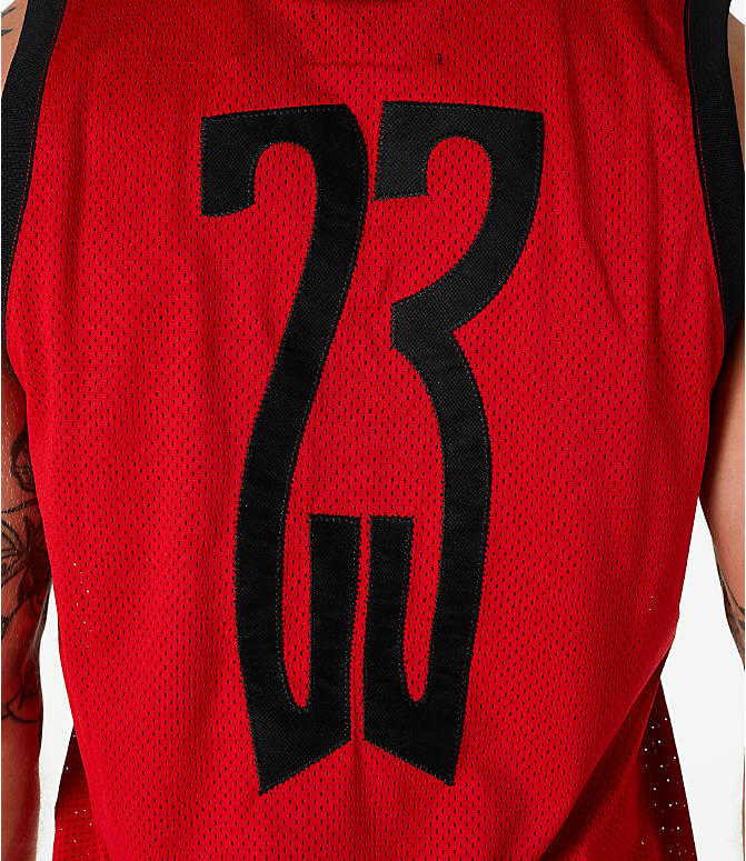 Detail 2 view of Men's Jordan Sportswear AJ14 Retro Tank in Red