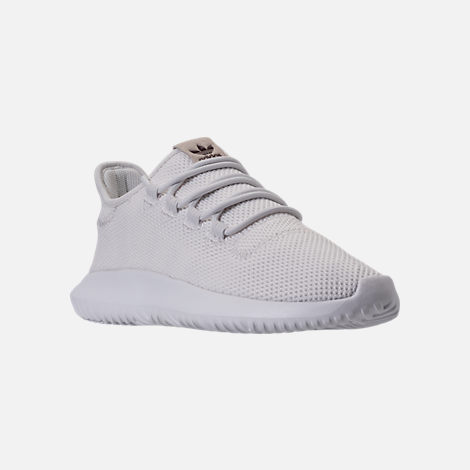 Three Quarter view of Men's adidas Tubular Shadow Casual Shoes in Vintage White/Mystery Brown