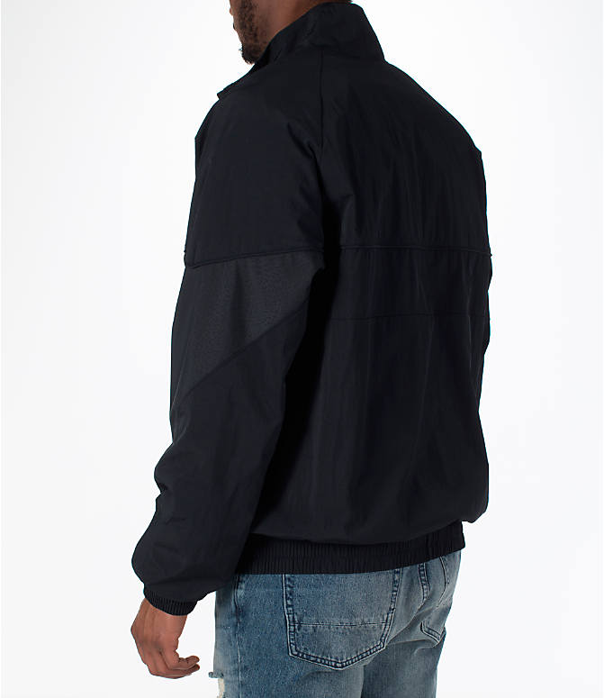 Back Left view of Men's Jordan AJ Retro 3 Track Jacket in Black